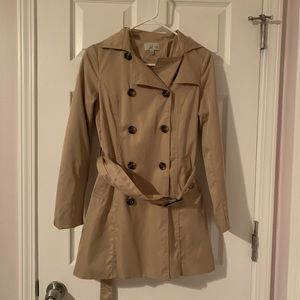 Tan trench coat- Size S- NWOT